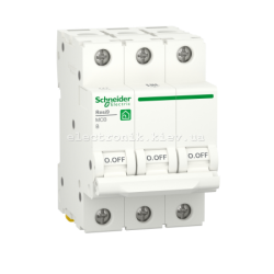 Автоматический выключатель RESI9 Schneider Electric 25 А, 3P, категория В, 6кА