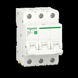 Автоматический выключатель RESI9 Schneider Electric 63 А, 3P, категория В, 6кА