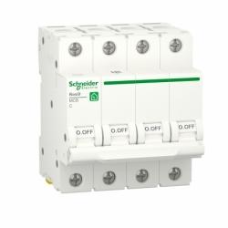 Автоматический выключатель RESI9 Schneider Electric 25 А, 4P, категория С, 6кА