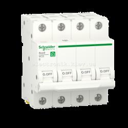 Автоматический выключатель RESI9 Schneider Electric 25 А, 4P, категория В, 6кА
