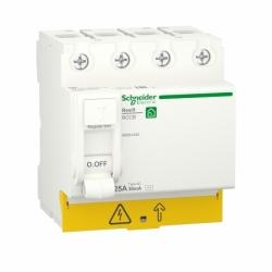 Устройство защитного отключения (УЗО)  RESI9 Schneider Electric 25 A, 30 мA, 4P, тип АС