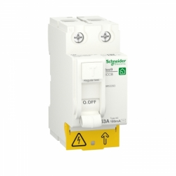 Устройство защитного отключения (УЗО)  RESI9 Schneider Electric 63 A, 100 мA, 2P, тип АС