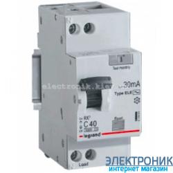Дифференциальный автомат RX³ Legrand 1P+N, хар-ка «C» 6A, 30mA-AC