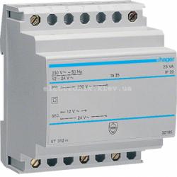 Трансформатор на DIN-рейку, 230В/24 В (1,04А), 230В/12 В (2,08А)