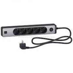 Удлинитель 5-й с заземлением+2*USB алюминий/черный 1.5 метра Schneider Unica Extend