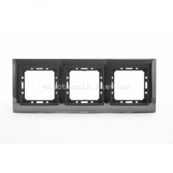 Рамка 3-ая Tesla LXL черная сталь/графитовый металлик