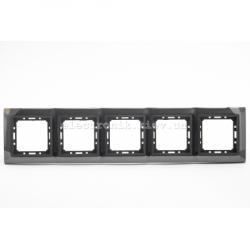 Рамка 5-ая Tesla LXL черная сталь/графитовый металлик