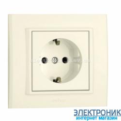 Розетка MINA 1-я с з/з крем OVIVO