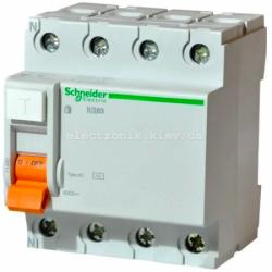 Устройство защитного отключения (УЗО) Schneider-Electric Домовой ВД63 4P 25A 30МA