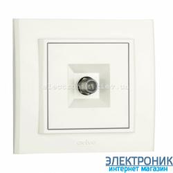 Розетка MINA спутниковая (F-розьем) белая OVIVO