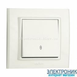 Выключатель 1-й проходной белый OVIVO