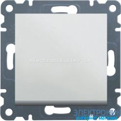 Выключатель 1-одноклавишный крестовой Hager Lumina2 белый
