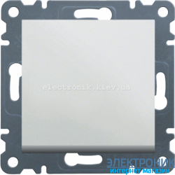 Выключатель 1-одноклавишный проходной Hager Lumina2 белый