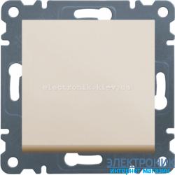 Выключатель 1-одноклавишный крестовой Hager Lumina2 крем