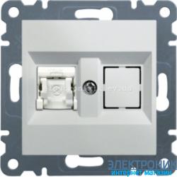 Розетка компьютерная  Hager Lumina2  CAT 5e белая