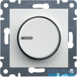 Диммер поворотный 60-600 Вт  Hager Lumina2 белый