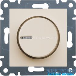 Диммер поворотный 60-600 Вт Hager Lumina2  крем
