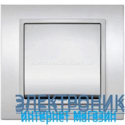 Механизм Выключатель EL-BI Zena Silverline Серый
