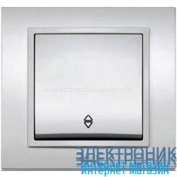 Механизм Выключатель проходной EL-BI Zena Silverline Серый