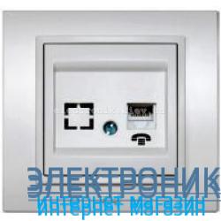 Механизм Розетка телефонная EL-BI Zena Silverline Серый