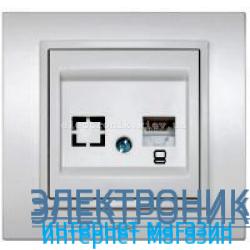 Механизм Розетка компьютерная EL-BI Zena Silverline Серый