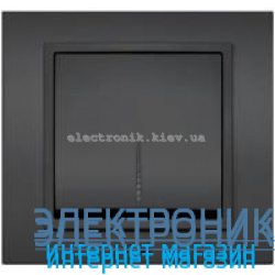 Механизм Выключатель с подсветкой EL-BI Zena Silverline Дымчатый