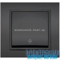 Механизм Выключатель проходной EL-BI Zena Silverline Дымчатый