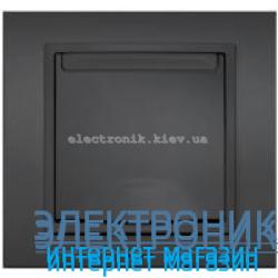 Механизм Розетка с крышкой и заземлением EL-BI Zena Silverline Дымчатый