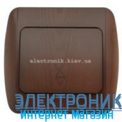 Выключатель 1-клавишный проходной античный орех EL-BI Zirve Woodline