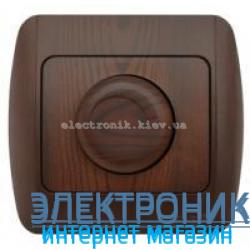 Светорегулятор 800 Вт античный орех EL-BI Zirve Woodline