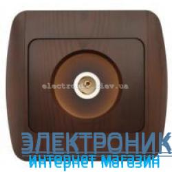 Розетка TV конечная античный орех EL-BI Zirve Woodline