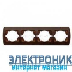 Рамка 4 поста античный орех EL-BI Zirve Woodline