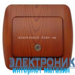 Выключатель 1-клавишный с подсветкой.LED вишня EL-BI Zirve Woodline