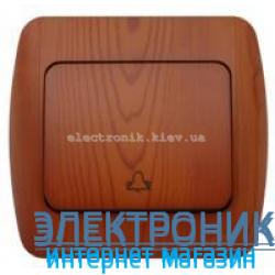 Выключатель 1 клавишный Звонок вишня EL-BI Zirve Woodline