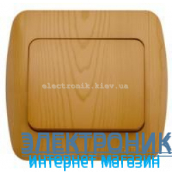 Выключатель 1-клавишный бук EL-BI Zirve Woodline