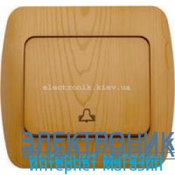 Выключатель 1 клавишный Звонок бук EL-BI Zirve Woodline