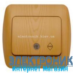 Выключатель 1клавишный проходной с подсветкой LED бук EL-BI Zirve Woodline
