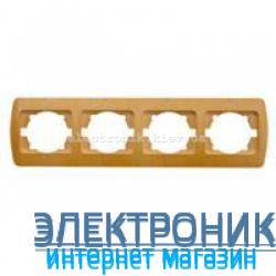 Рамка 4 поста бук EL-BI Zirve Woodline