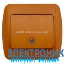 Выключатель 1-клавишный с подсветкой.LED дуб EL-BI Zirve Woodline