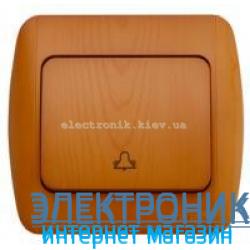 Выключатель 1 клавишный Звонок дуб EL-BI Zirve Woodline