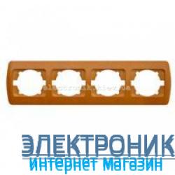 Рамка 4 поста дуб EL-BI Zirve Woodline