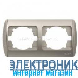 Рамка 2 поста серый металлик EL-BI Zirve Silverline