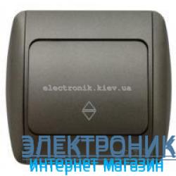 Выключатель 1-клавишный проходной черный металлик EL-BI Zirve Silverline