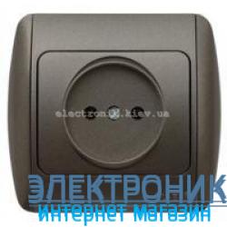 Розетка без заземления черный металлик EL-BI Zirve Silverline