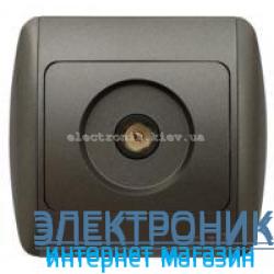 Розетка TV конечная черный металлик EL-BI Zirve Silverline