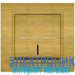 Механизм Выключатель с подсветкой EL-BI Zena Woodline Берёза