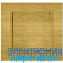 Механизм Розетка с крышкой и заземлением EL-BI Zena Woodline Берёза