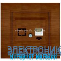 Механизм Розетка телефонная EL-BI Zena Woodline Вишня