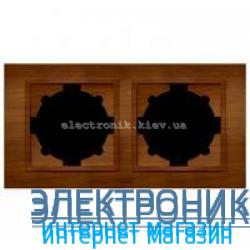 Рамка 2-я EL-BI Zena Woodline Вишня