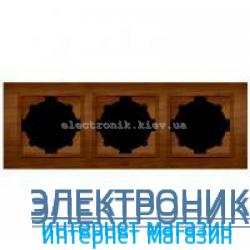 Рамка 3-я EL-BI Zena Woodline Вишня